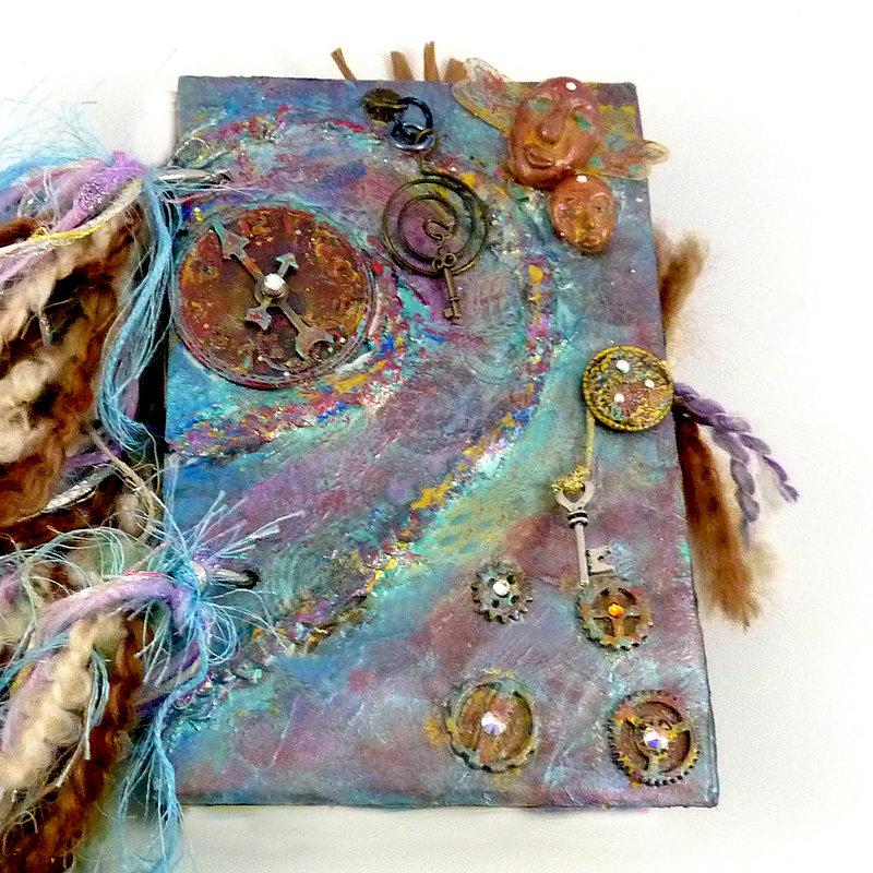 Steampunk Spirit Crystal art journal
