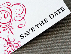Letterpress - Elegant Save the Dates