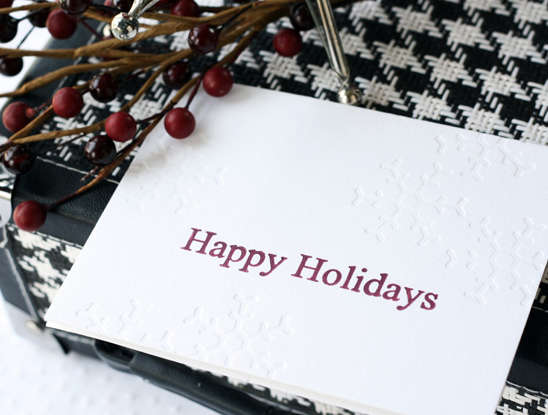 Letterpress Happy Holidays Card