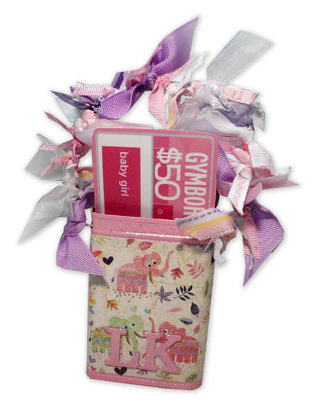 Baby Girl Gift Card Canister