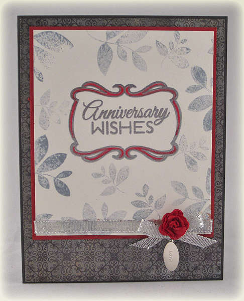 REDO of Anniversary Wishes card