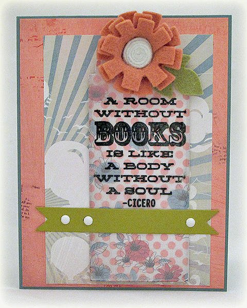 Room Without Books Bookmark Card