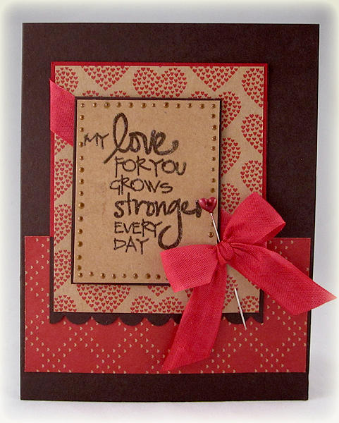 Love Grows Stronger card