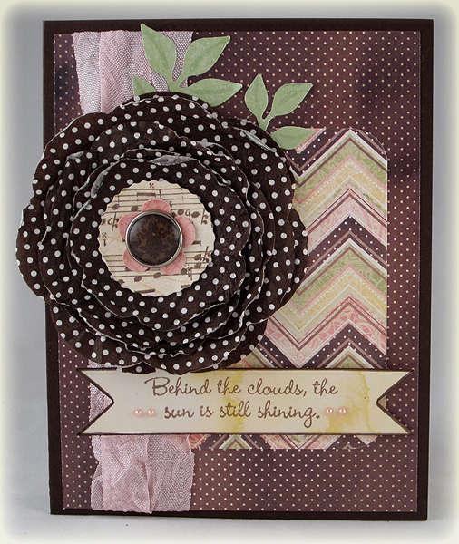 Napkin Flower card for SFYTT challenge