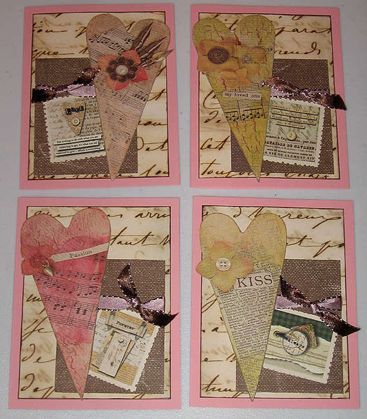 Valentine/love-themed cards (group)