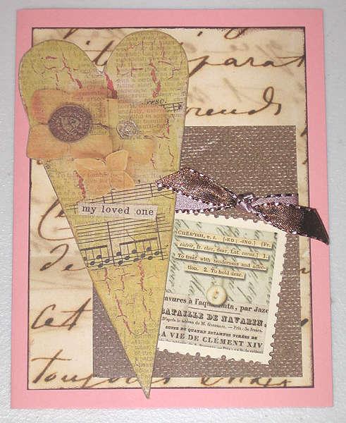 Valentine/love-themed card (single)