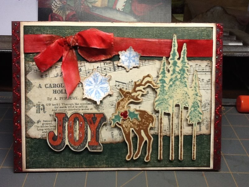 Christmas Joy Easel card