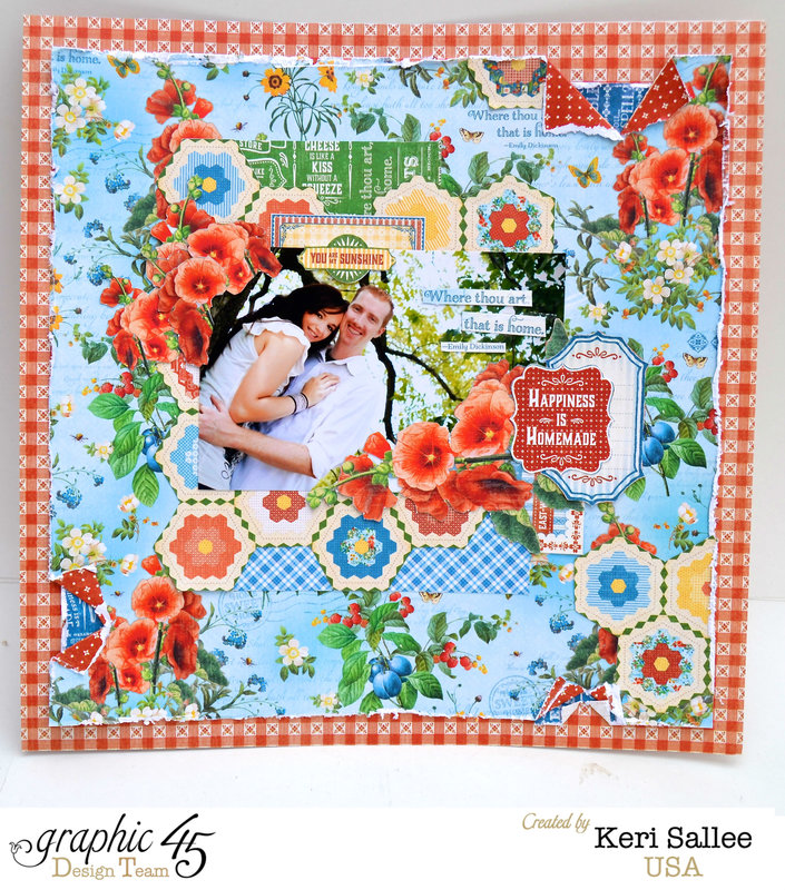 "Graphic 45 ""Home Sweet Home"" 12 x 12 Layout"