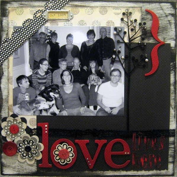 Love Lives Here-Canvas
