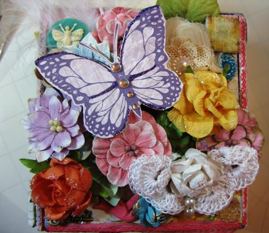Altered Box Top ~Scraps of Elegance