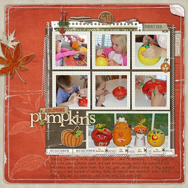 Coloring Pumpkins