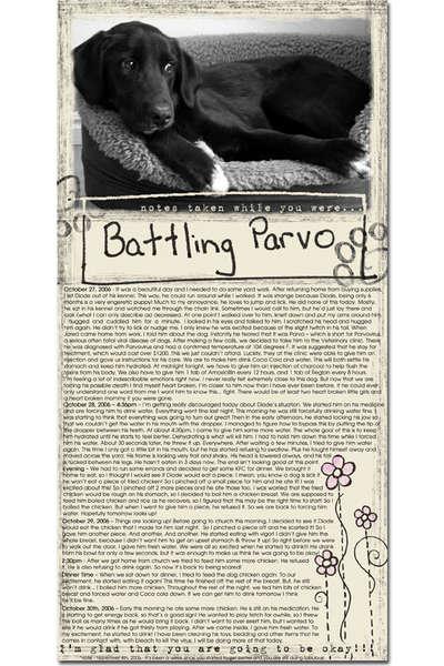 *Battling Parvo - Hall of Fame