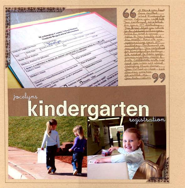 Jocelyn's Kindergarten Registration