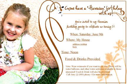 Jocelyn's Birthday Invitation