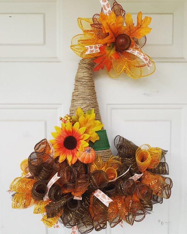 Scarecrow Hat door hanger