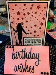 Pink birthday wishes