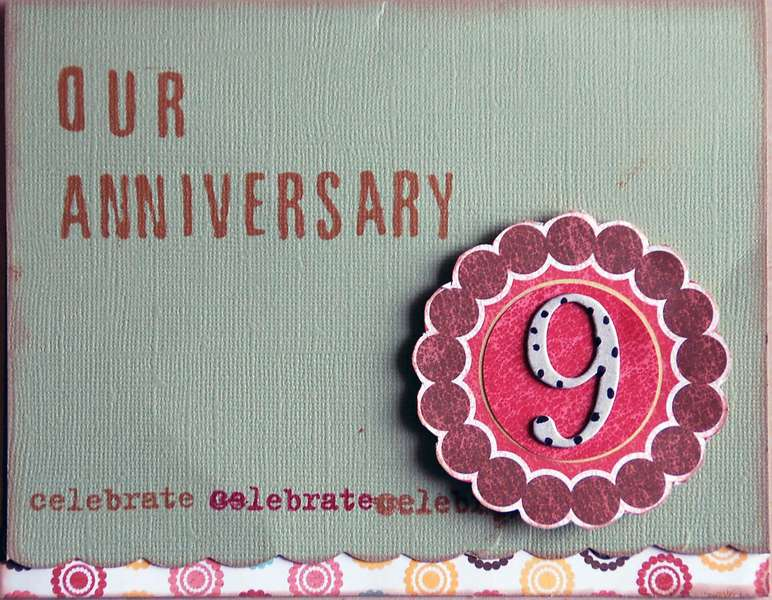 Our 9th Anniversary Card