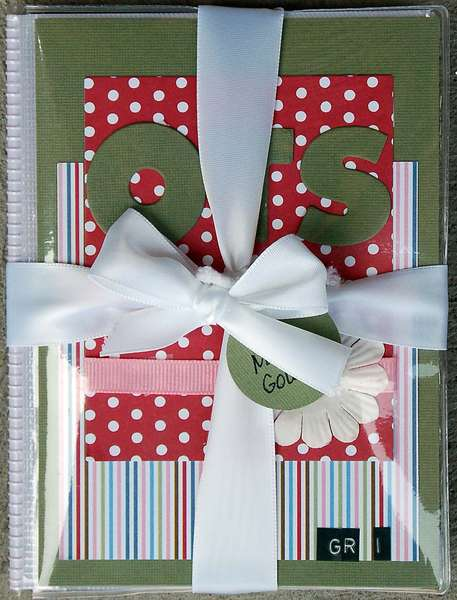 Album Cover with ribbon and name tag..