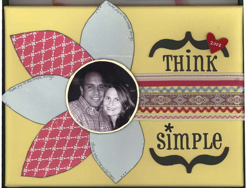 Think Simple (Canvas) DeZineGirlz