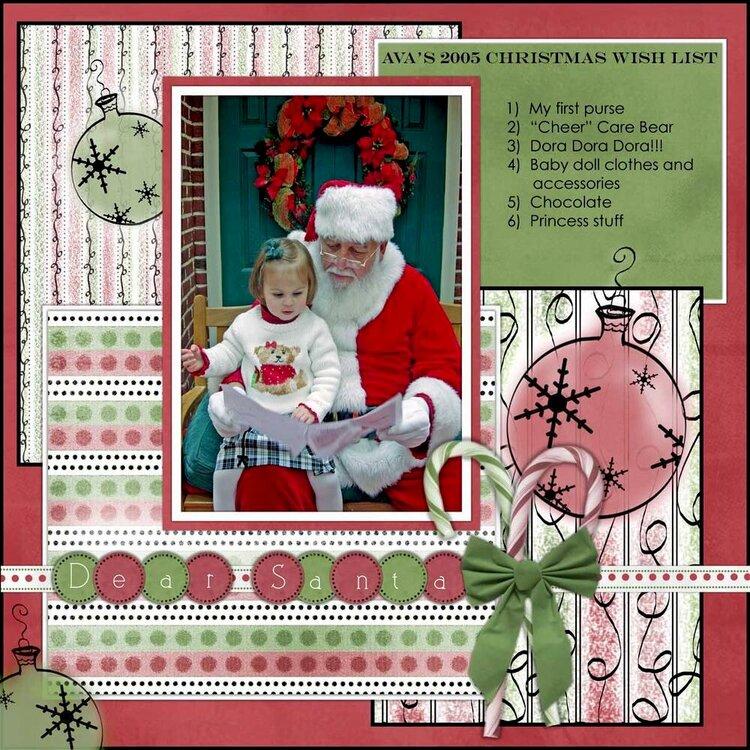 Christmas Wish List Ava
