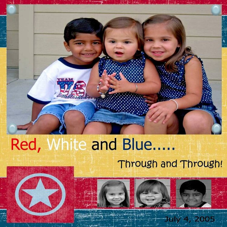 Red, White and Blue... through and through!