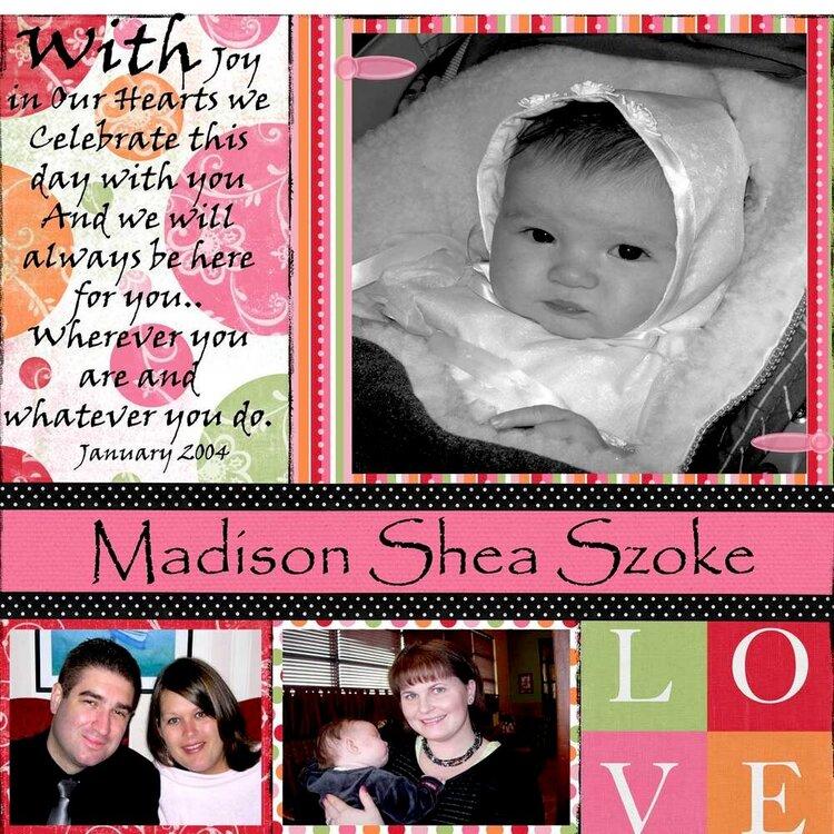 Madison's Baptism various