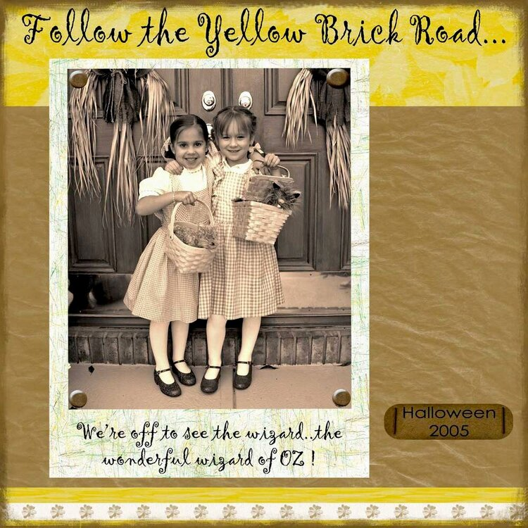 Follow the Yellow Brick Road left