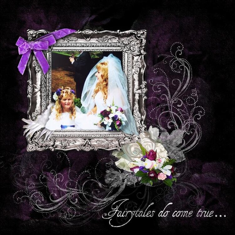 Wedding LO with out of bounds photo