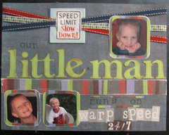 Our little man runs on warp speed 24/7