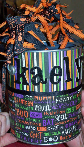 Kaelyn's Trick Or Treat Bucket