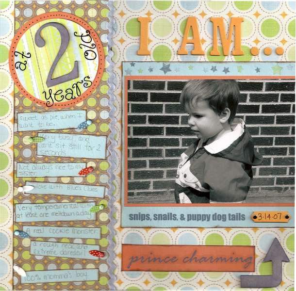 At 2 yrs. old I am....