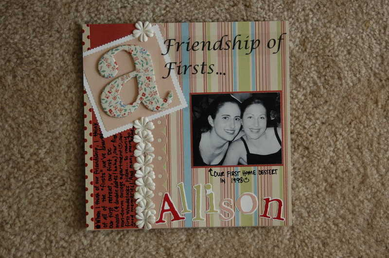 """Alli & Amanda, """"A Friendship of Firsts..."""" Left Side"""