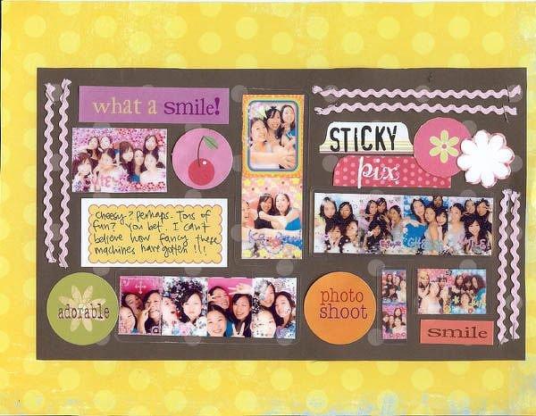 Sticky Pix<br> Scrapbook Trends 3/07