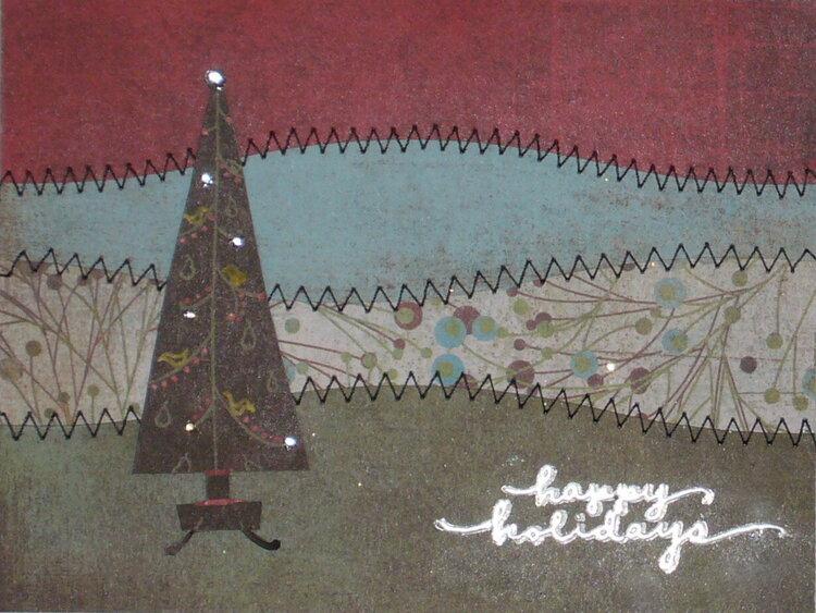 Christmas Tree Wave Card