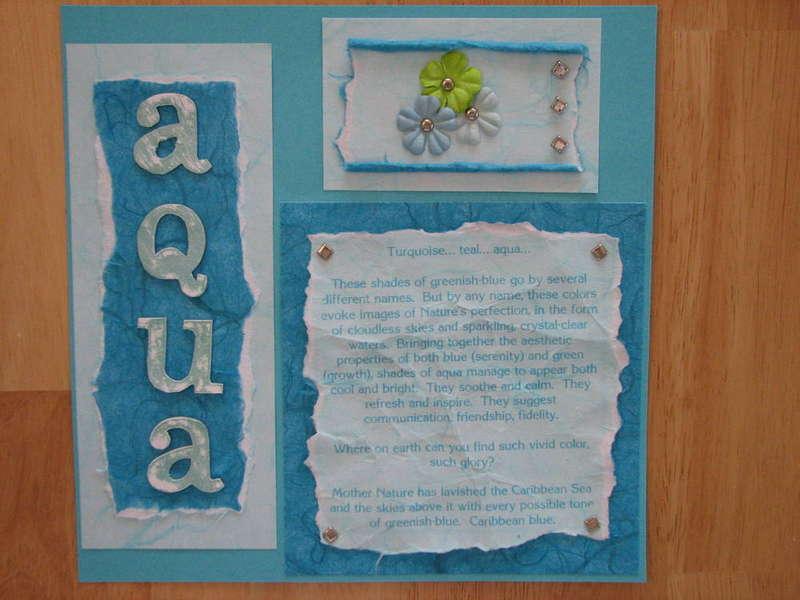 Color Journal - Aqua - left