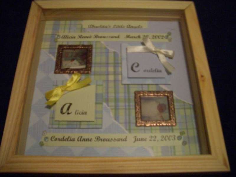 Abuelita's Angels Memory Shadow Box