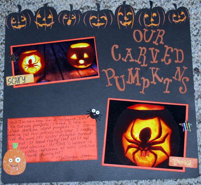Our Carved Pumpkins