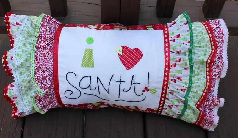 I Heart Santa Pillow