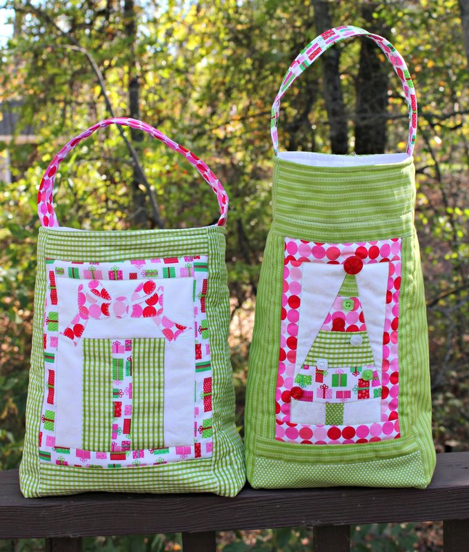 Doodlebug Christmas Quilted Totes
