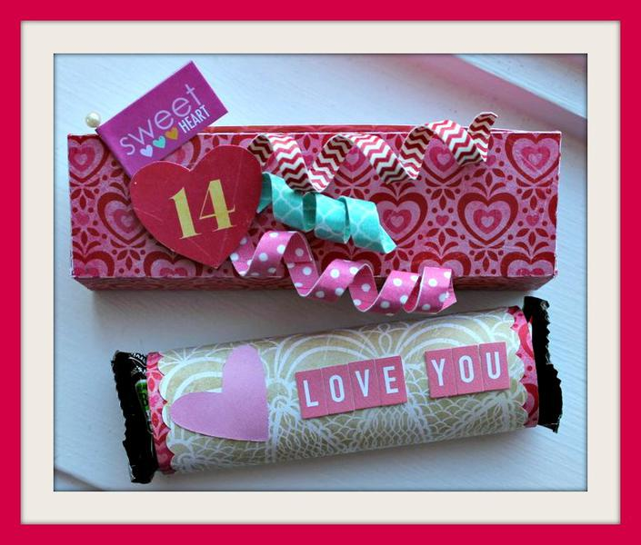 Candy bar and box