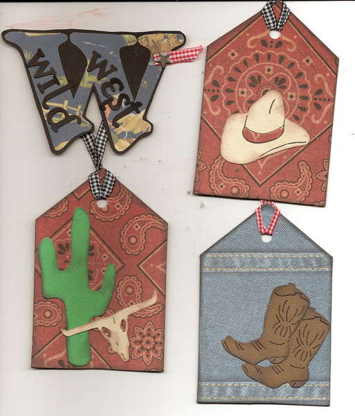 wild west ~ 3 coordinating tags + swap