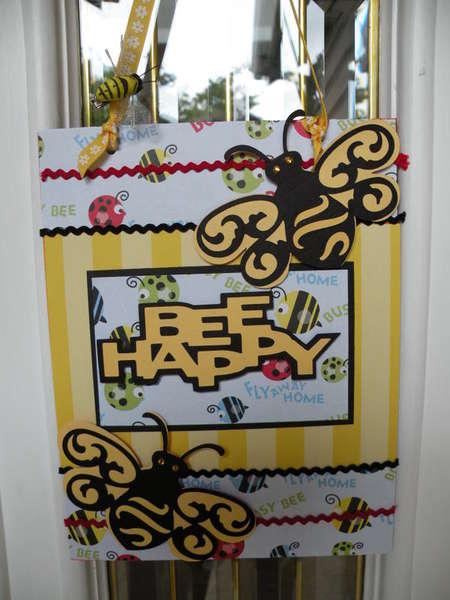 Bee Happy Door Hanger