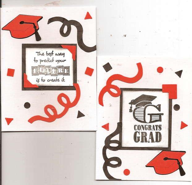 orange grad cards