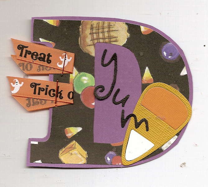D in Candy - Letters of the Word Swap for Halloween