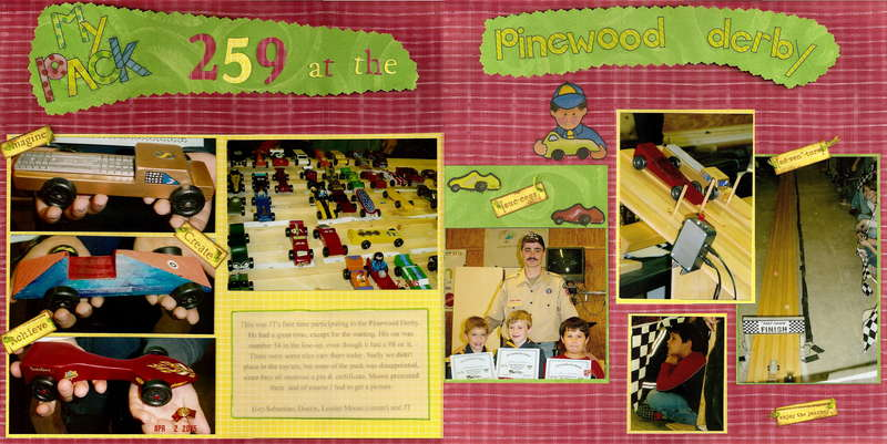 My Pack 259 at the Pinewood Derby