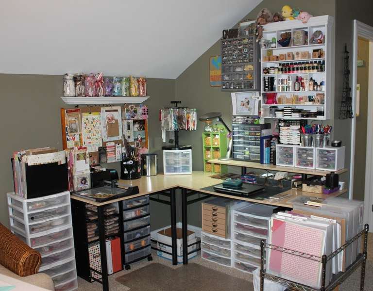 Complete view of my scrappy corner