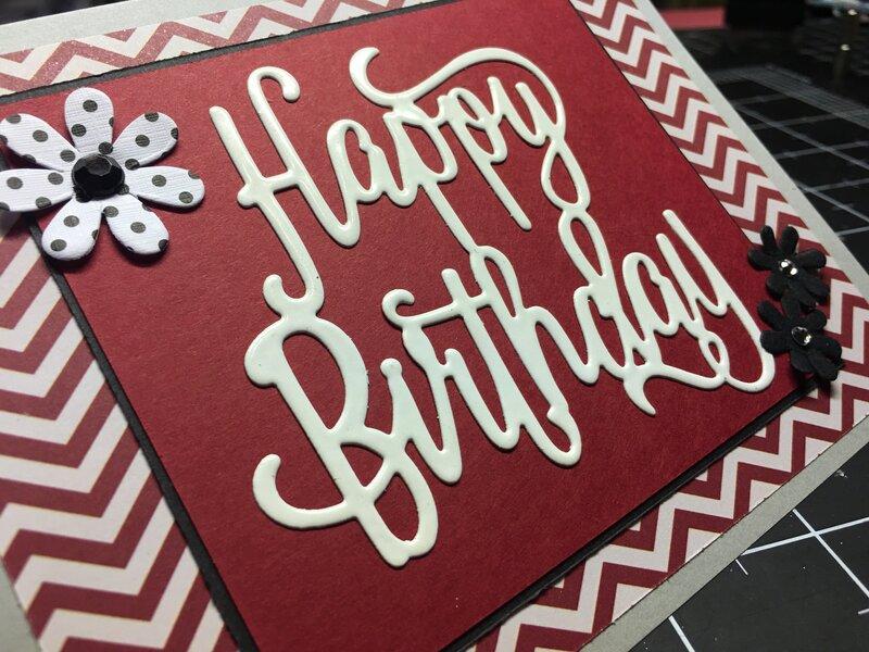 Embossed birthday greeting