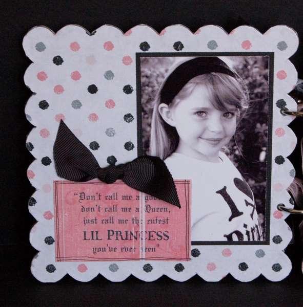 Rusty Pickle *Pirate Princess scalloped chipboard album PG1