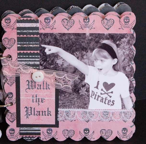 Rusty Pickle *Pirate Princess scalloped chipboard album PG2