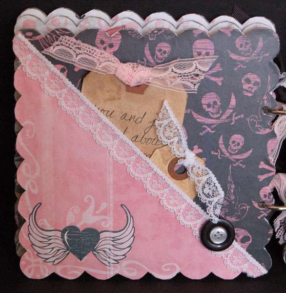 Rusty Pickle *Pirate Princess scalloped chipboard album PG5